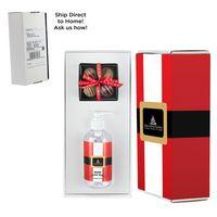 186414200-153 - 8 oz. Sanitizer & 4 Piece Belgian Chocolate Truffle Box in Mailer Box - (Option 2) - thumbnail