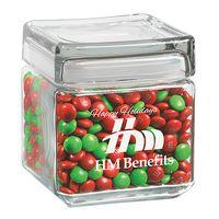 305182896-153 - Square Glass Jar - Holiday M&M's (32 Oz.) - thumbnail