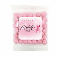 305469398-153 - Breast Cancer Awareness Survivor Snack Bags w/ Pink Chocolate Buttons - thumbnail