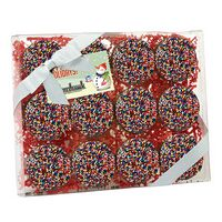 314167819-153 - Elegant Chocolate Covered Oreo® Gift Box - Rainbow Sprinkles (12 pack) - thumbnail