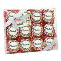 315048315-153 - Elegant Chocolate Covered Printed Oreo® Gift Box - Rainbow Sprinkles/Printed Cookies (12 pack) - thumbnail