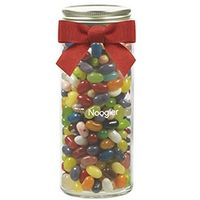 355431628-153 - 16 Oz. Contemporary Glass Mason Jar w/ Grosgrain Bow (Jelly Belly Jelly Beans) - thumbnail