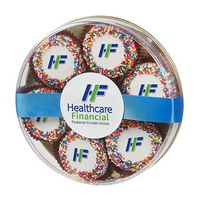 355801884-153 - Custom Belgian Chocolate Covered Oreo® Gift - Rainbow Nonpareil Sprinkles - thumbnail
