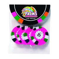 392526944-153 - Chocolate Poker Chips in Small Round Top Header Bag - thumbnail
