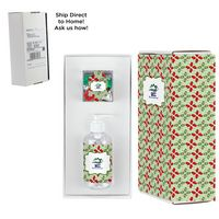 726414185-153 - 8 oz. Sanitizer & Candy Cube in Mailer box - Hershey Holiday Kisses - thumbnail