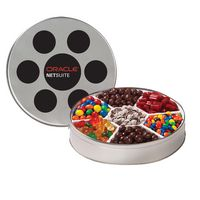 791640791-153 - Large Film Reel Tin - 7 Way Candy Tin - thumbnail