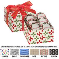 795469126-153 - Gala Gift Box w/ 5 Chocolate Covered Custom Oreo® Cookies w/ Holiday Nonpareils (Large) - thumbnail