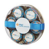 955801883-153 - Custom Belgian Chocolate Covered Oreo (R) Gift - Corporate Color Nonpareil Sprinkles - thumbnail