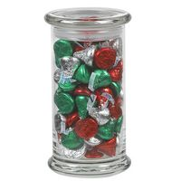 965183008-153 - Status Glass Jar - Hershey's® Holiday Kisses (20.5 Oz.) - thumbnail