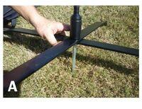 133999750-157 - Metal Cross Bar Base w/Ground Stake and Rotating Ball Bearing Stem - thumbnail