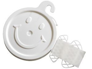 366214184-157 - White Smiley Face Balloon Weight - thumbnail