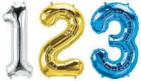 "506214162-157 - 34"" Letter, Number & Symbol-Shaped Microfoil Balloon - thumbnail"