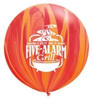 "592009266-157 - 30"" SuperAgate Rainbow Giant Latex Balloon - thumbnail"