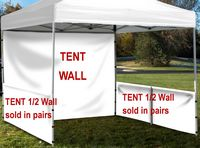 933704429-157 - Event Tent Half Wall Pair (FULL Color) with Railing Hardware - thumbnail