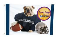945313644-157 - 2 ft. H x 3 ft. W Team Flag (DOUBLE SIDED) - thumbnail