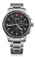125803455-174 - Alliance Sport Chronograph Stainless Steel Watch w/Black Dial - thumbnail