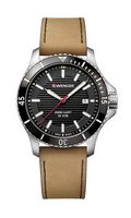 795599316-174 - Seaforce Black Dial Brown Leather Strap Watch - thumbnail