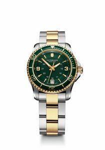 904298924-174 - Maverick Small Green/Gold Dial/Two-Tone Bracelet Watch - thumbnail