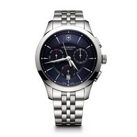 916226414-174 - Chronograph Blue Dial Stainless Steel Bracelet Watch - thumbnail