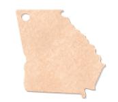 "935802333-174 - 12""x11"" Epicurean Georgia Shaped Cutting Board - thumbnail"