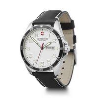 966226365-174 - White Dial Black Leather Strap Watch - thumbnail