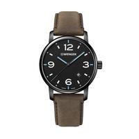 976226335-174 - Urban Metropolitan Black Dial, Blue hands, PVD Case, Genuine Brown Leather Strap - thumbnail