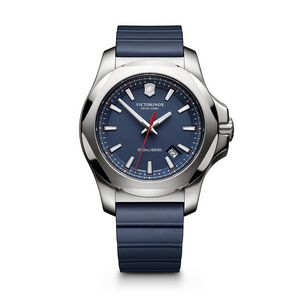 994574065-174 - INOX Large Blue Dial/Blue Genuine Rubber Strap Watch - thumbnail