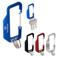 125804143-816 - Aluminum Carabiner With Triple Split Ring - thumbnail