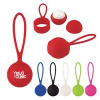 155808415-816 - Rubberized Lip Moisturizer Ball With Holder - thumbnail