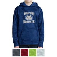 185427879-816 - Sport-Tek® Youth Sport-Wick® CamoHex Fleece Hooded Pullover - thumbnail
