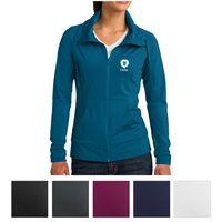 185443119-816 - Sport-Tek® Ladies' Sport-Wick® Stretch Full-Zip Jacket - thumbnail