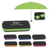 "192865021-816 - 37"" Arc Telescopic Folding Travel Umbrella With Eva Case - thumbnail"