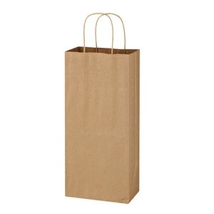 "315760427-816 - Kraft Paper Brown Wine Bag - 5.25"" x 13"" - thumbnail"