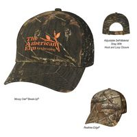 323999189-816 - Realtree® And Mossy Oak® Hunter's Retreat Mesh Back Camouflage Cap - thumbnail