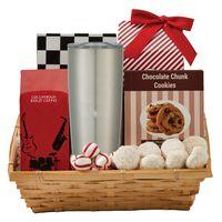 375808052-816 - Coffee & Cookie Basket with 20 Oz. Himalayan Tumbler - thumbnail