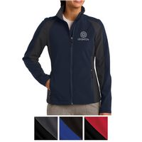 385443117-816 - Sport-Tek® Ladies' Colorblock Soft Shell Jacket - thumbnail