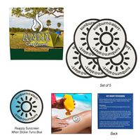 396158363-816 - 5-Pack Sunburn Alert UV Color-Changing Stickers With Custom Pack - thumbnail