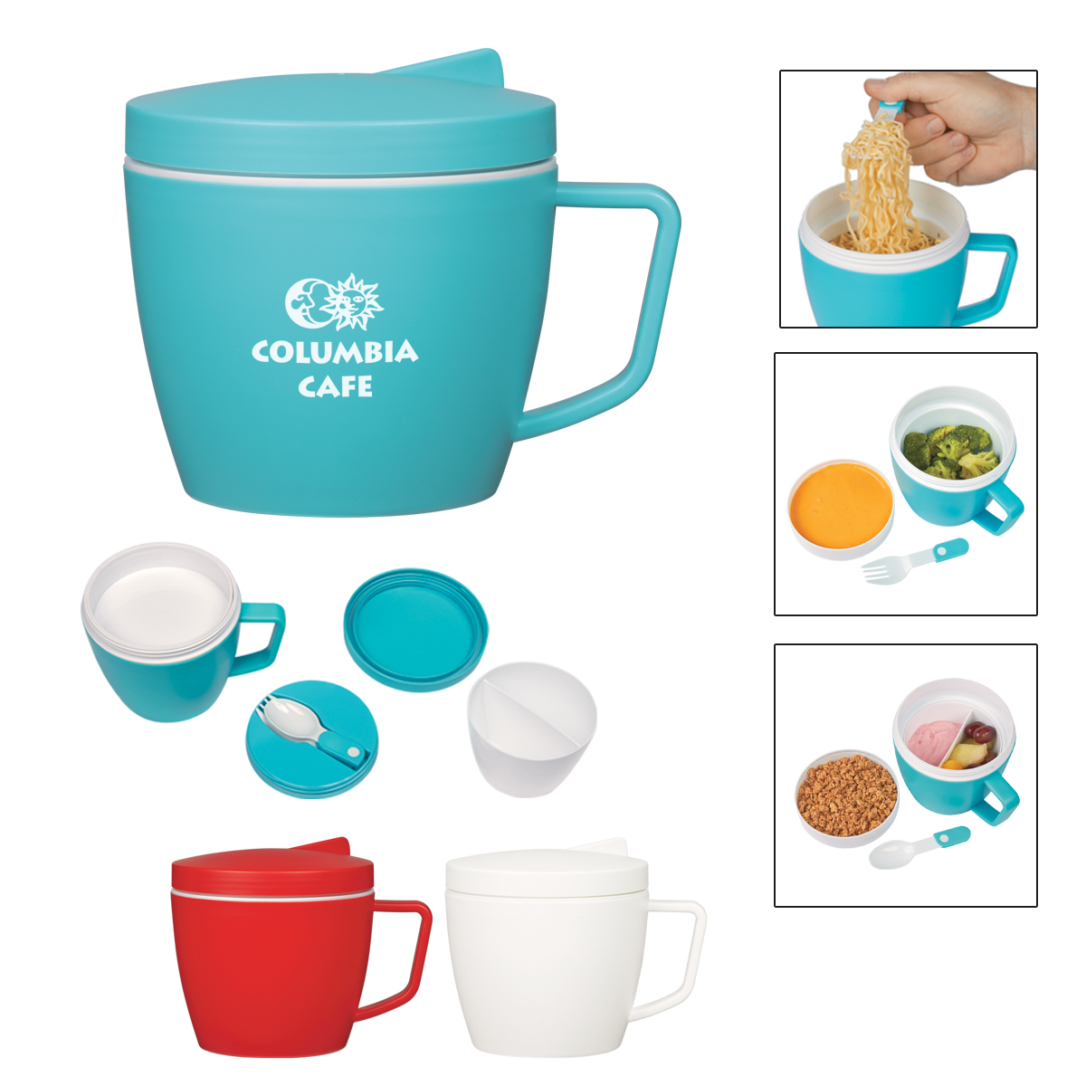 534290116-816 - 14 Oz. Thermal Mug With Spoon And Fork Set - thumbnail