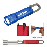 535760465-816 - Mini Aluminum Flashlight With Carabiner - thumbnail