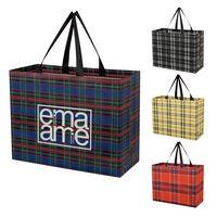 535886290-816 - Tartan Laminated Non-Woven Shopper Bag - thumbnail
