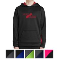555415287-816 - Sport-Tek® Youth Sport-Wick® Fleece Colorblock Hooded Pullover - thumbnail