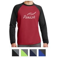 575414633-816 - Sport-Tek® Sport-Wick® Raglan Colorblock Fleece Crewneck - thumbnail