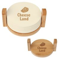 585294323-816 - 4-Coaster Set With Bamboo Holder - thumbnail