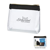 705814908-816 - Sadie Satin Clear Cosmetic Bag - thumbnail