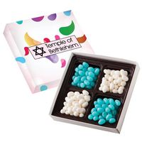 706292682-816 - Square Custom Candy Box with Corporate Color Jelly Beans - thumbnail