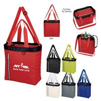 715498975-816 - Quilted Slim Line Cooler Tote Bag - thumbnail