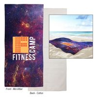 715703395-816 - Dual-Sided Microfiber Beach Towel - thumbnail