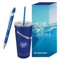716451146-816 - Incline Tumbler & Pen Gift Set - thumbnail