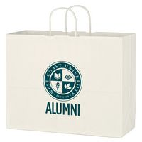 "735417725-816 - Kraft Paper White Shopping Bag - 16"" x 12-1/2"" - thumbnail"
