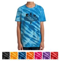 745353444-816 - Port & Company® Youth Tiger Stripe Tie-Dye Tee - thumbnail